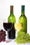 Wijn en bos van druiven Royalty-vrije Stock Foto's