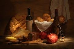 Wijn en brad Royalty-vrije Stock Afbeelding
