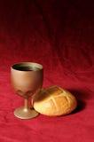 Wijn en Brood Royalty-vrije Stock Fotografie