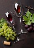 Wijn en druif stock afbeeldingen