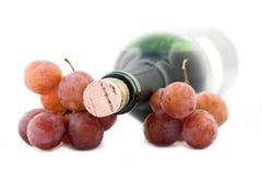 Wijn en druiven Stock Afbeeldingen