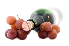 Wijn en druiven Royalty-vrije Stock Afbeeldingen