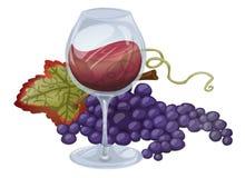 Wijn en Druiven Stock Foto's