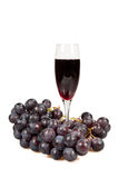 Wijn en fruit Stock Afbeelding