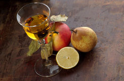 Wijn en fruit Stock Afbeeldingen