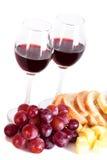 Wijn en gastronomisch voedsel royalty-vrije stock fotografie