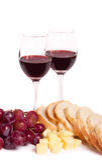 Wijn en gastronomisch voedsel stock foto's