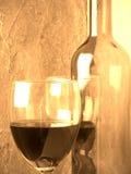 Wijn en glas Stock Fotografie