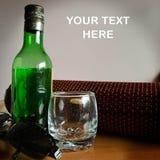 Wijn en glas Stock Foto's