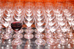 Wijn en Glas Royalty-vrije Stock Afbeeldingen