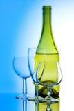 Wijn en glas Stock Afbeelding
