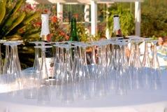 Wijn en Glazen royalty-vrije stock fotografie