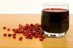 Wijn en granaatappelzaden Royalty-vrije Stock Afbeeldingen