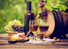 Wijn en Kaas Royalty-vrije Stock Afbeelding