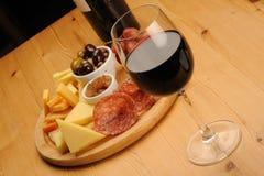 Wijn en Kaas Royalty-vrije Stock Foto's