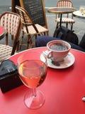 Wijn en koffie Stock Foto