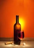 Wijn en kurketrekker Royalty-vrije Stock Foto's
