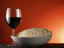 Wijn en matzoh Stock Foto