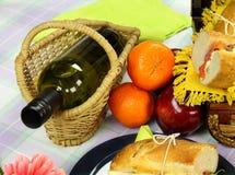 Wijn en Picknick Stock Fotografie