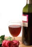 Wijn en rozen Stock Fotografie