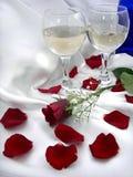 Wijn en Rozen royalty-vrije stock foto