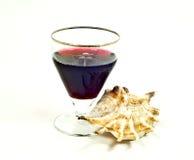 Wijn en tweekleppig schelpdier royalty-vrije stock foto's