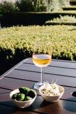 Wijn en voorgerechten in Amsterdam stock foto