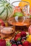 Wijn en vruchten Stock Foto