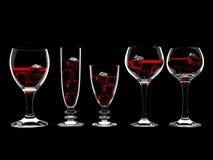 Wijn in glas royalty-vrije illustratie