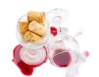 wijn glazen Stock Fotografie