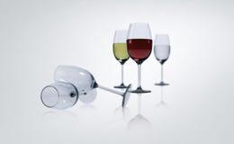 Wijn in glazen Stock Fotografie