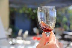 Wijn in het glas royalty-vrije stock afbeelding
