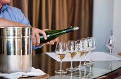 Wijn het proeven bij Napa-Vallei stock foto