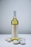 Wijn met steen Stock Afbeelding