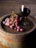 Wijn met vat royalty-vrije stock foto