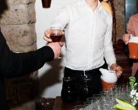 Wijn in miskelk Royalty-vrije Stock Afbeeldingen