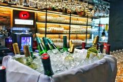 Wijn op ijs royalty-vrije stock foto's