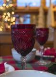 Wijn op Kerstmis Royalty-vrije Stock Fotografie