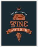 Wijn op kraan Royalty-vrije Stock Foto's