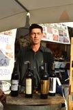 Wijn in openbare markt Stock Foto