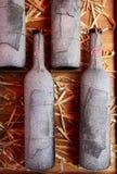 Wijn. Oud wijnrek stock foto