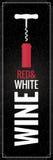 Wijn rode en witte Fles Logo Background Royalty-vrije Stock Fotografie