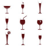 Wijn in verschillende glazen vector illustratie