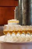 Wijn voor ontvangst Royalty-vrije Stock Foto