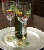 Wijn voor Twee Royalty-vrije Stock Foto's