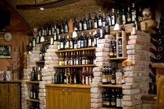 Wijn in wijngaard in Bratislava Royalty-vrije Stock Foto's