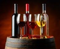Wijn in wijnmakerij Royalty-vrije Stock Foto's
