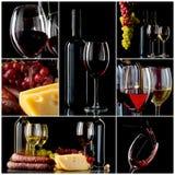 Wijncollage Royalty-vrije Stock Afbeeldingen