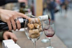 Wijnen van het Voedsel en de Wijnfestival van Kyiv in Kiev, de Oekraïne royalty-vrije stock foto's