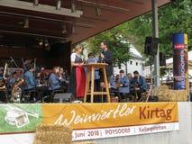 Wijnfestival in Poysdorf stock foto's